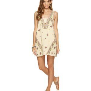 FREE PEOPLE Never Been Mini Embroidered Dress - L